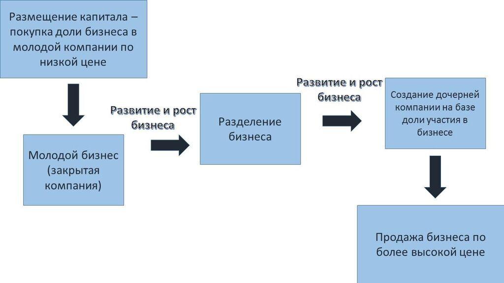 Схема – инструкция размещения венчурной инвестиции