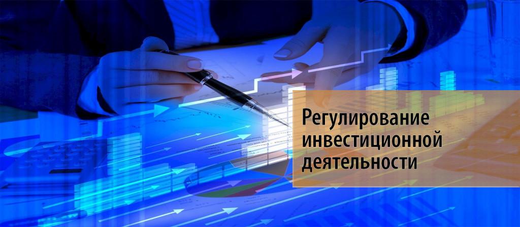 4 Государственное регулирование инвестиционной деятельности