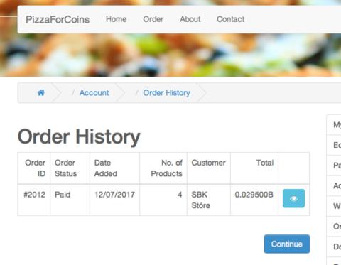 Покупка пиццы за биткоины